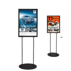 Info Poster Stand - Black (A2 & A1)